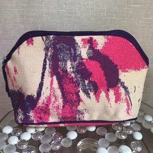 Handbags - Cosmetic Makeup Bag Purple & Pink Tie Dye Canvas